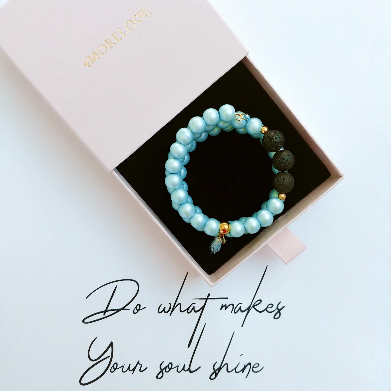 Bransoletka ręcznie robiona do aromaterapii 4morelove -  Do What Make Your Soul Soul Shine
