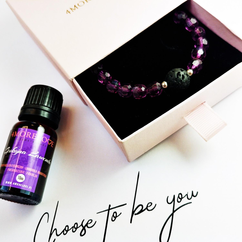 Bransoletka zapachowa 4morelove do aromaterapii Choose To Be You