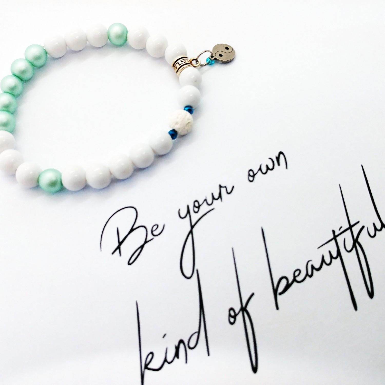 Bransoletka ręcznie robiona zapachowa Be Your Own Kind Of Beautiful