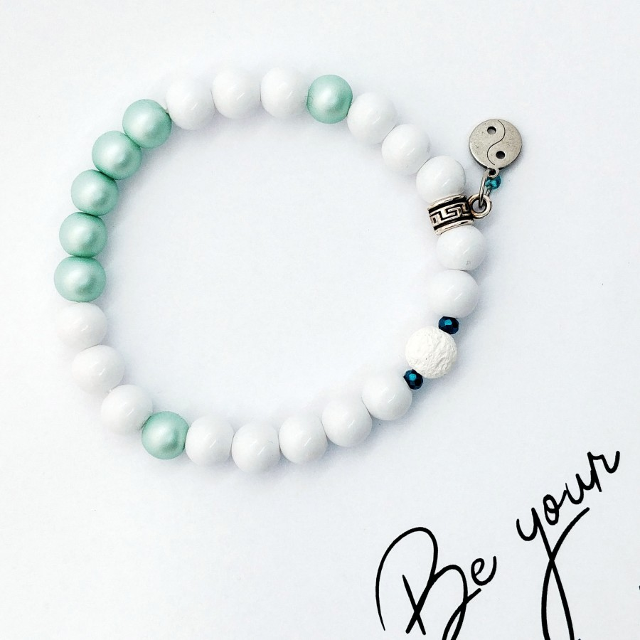 Bransoletka handmade do aromaterapii Be Your Own Kind Of Beautiful