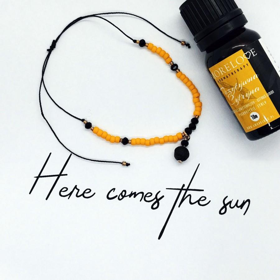 Bransoletka do aromaterapii ręcznie robiona 4morelove Here Comes The Sun