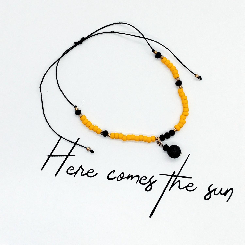 Bransoletka zapachowa handmade 4morelove Here Comes The Sun