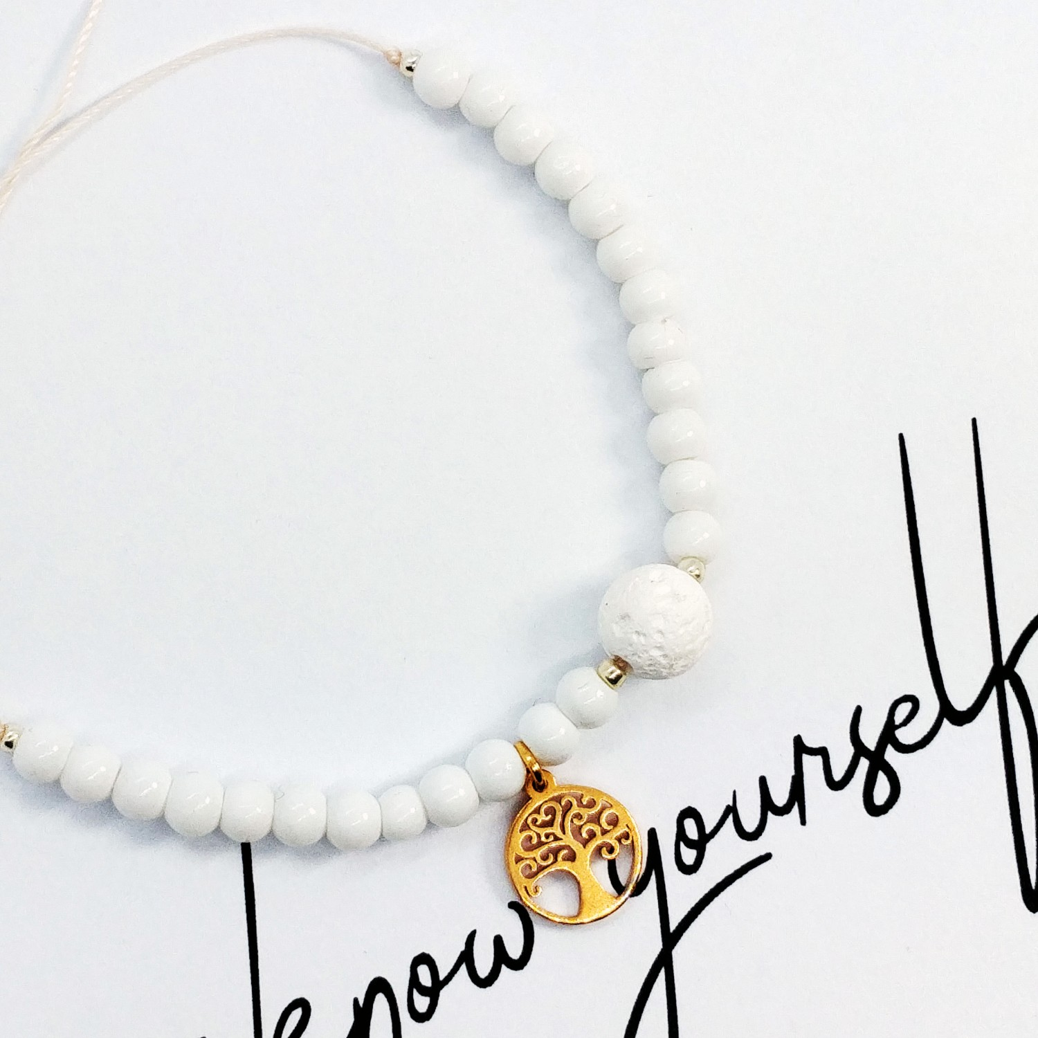 Bransoletka handmade do aromaterapii 4morelove Get To Know Yourself First