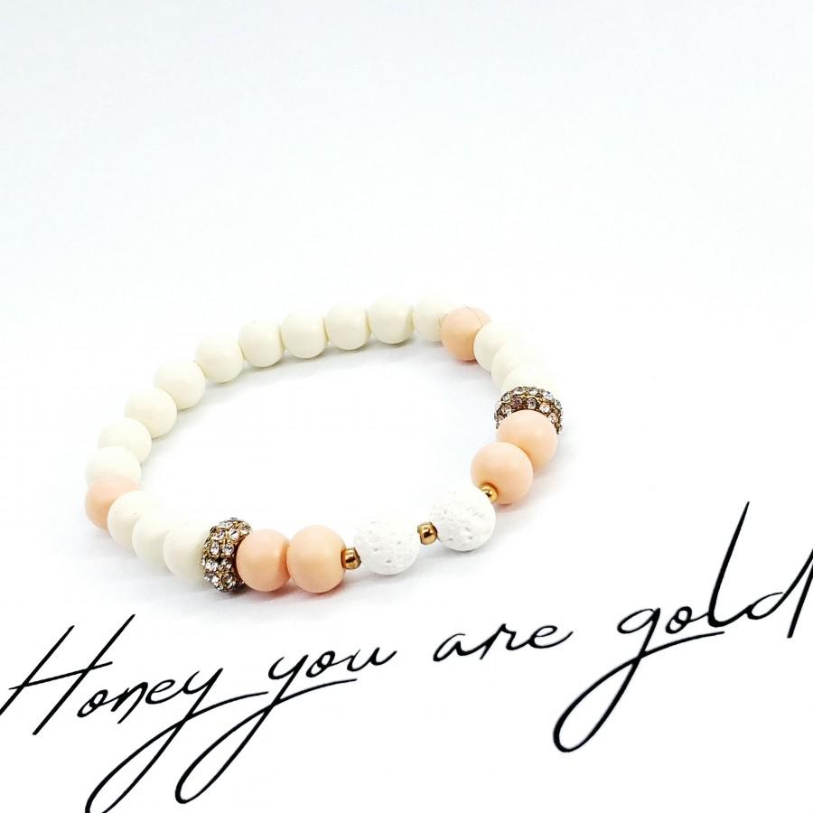 Bransoletka handmade do aromaterapii 4morelove Honey You Are Golden