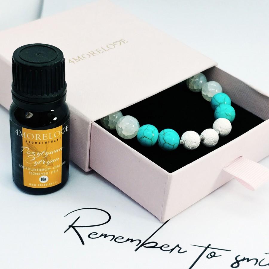 Bransoletka ręcznie robiona do aromaterapii 4morelove Remember To Smile
