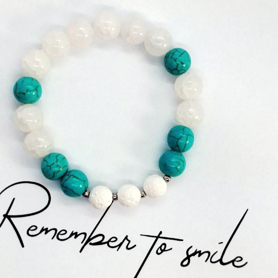 Bransoletka zapachowa ręcznie robiona 4morelove Remember To Smile