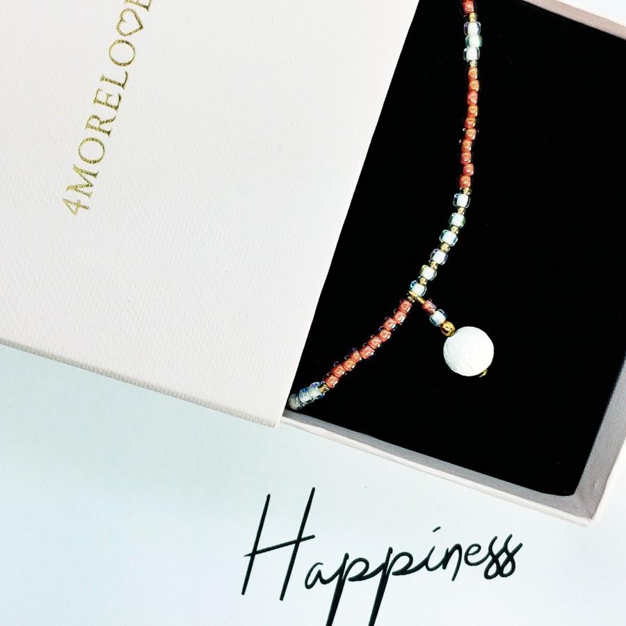 Bransoletka handmade zapachowa 4morelove Happiness Looks Gorgeous On You