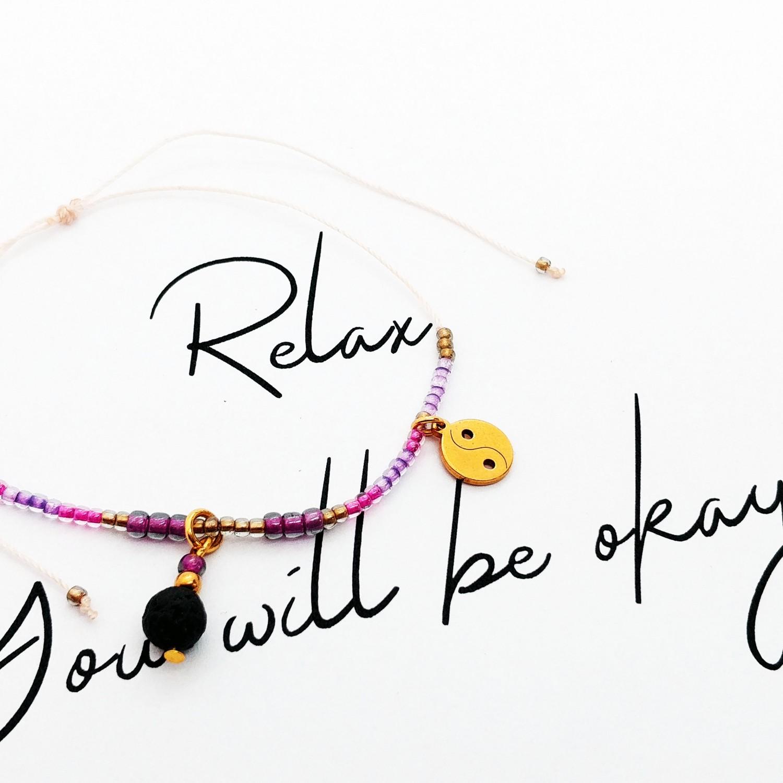 Bransoletka handmade do aromaterapii 4morelove - Relax. You Will Be Okay