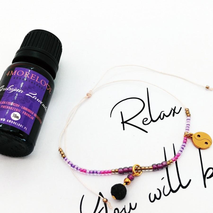 Bransoletka do aromaterapii ręcznie robiona 4morelove - Relax. You Will Be Okay