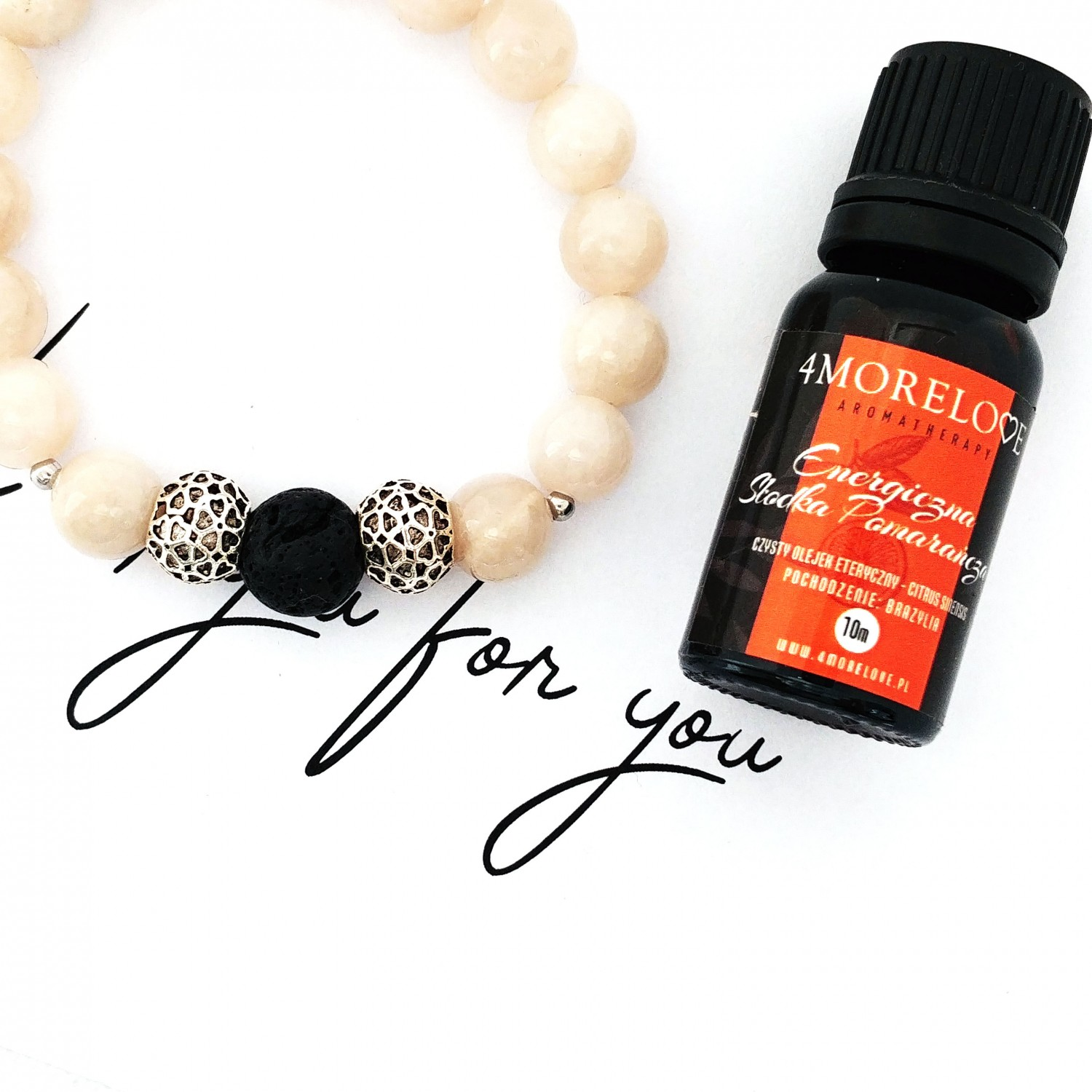 Bransoletka handmade do aromaterapii 4morelove Work On You For You