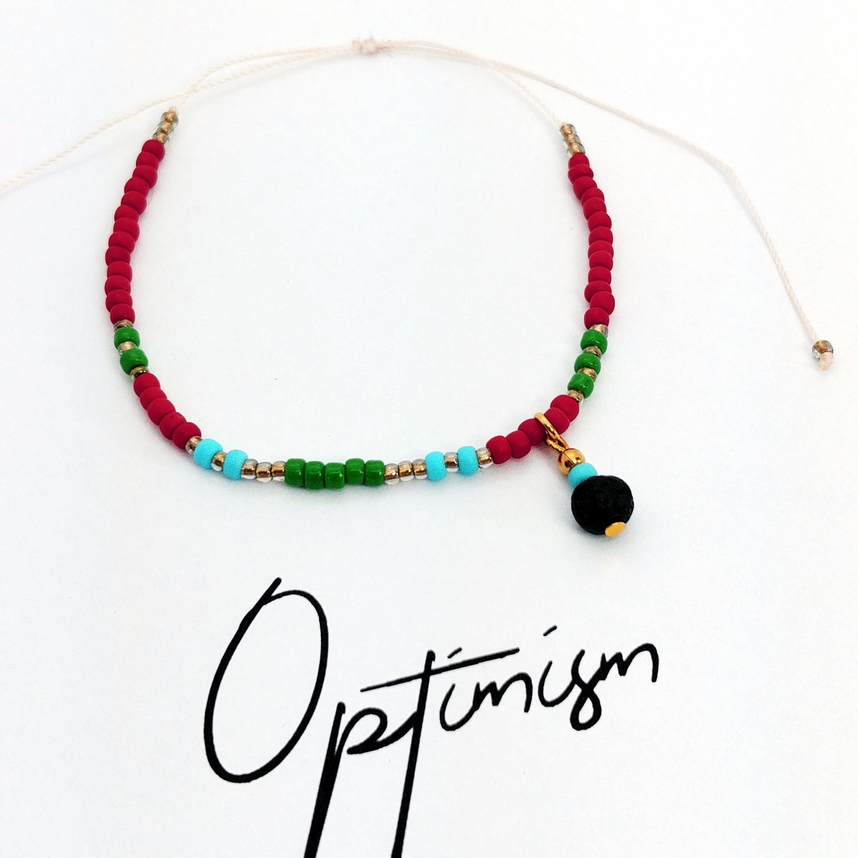 Bransoletka handmade do aromaterapii 4morelove Optimism