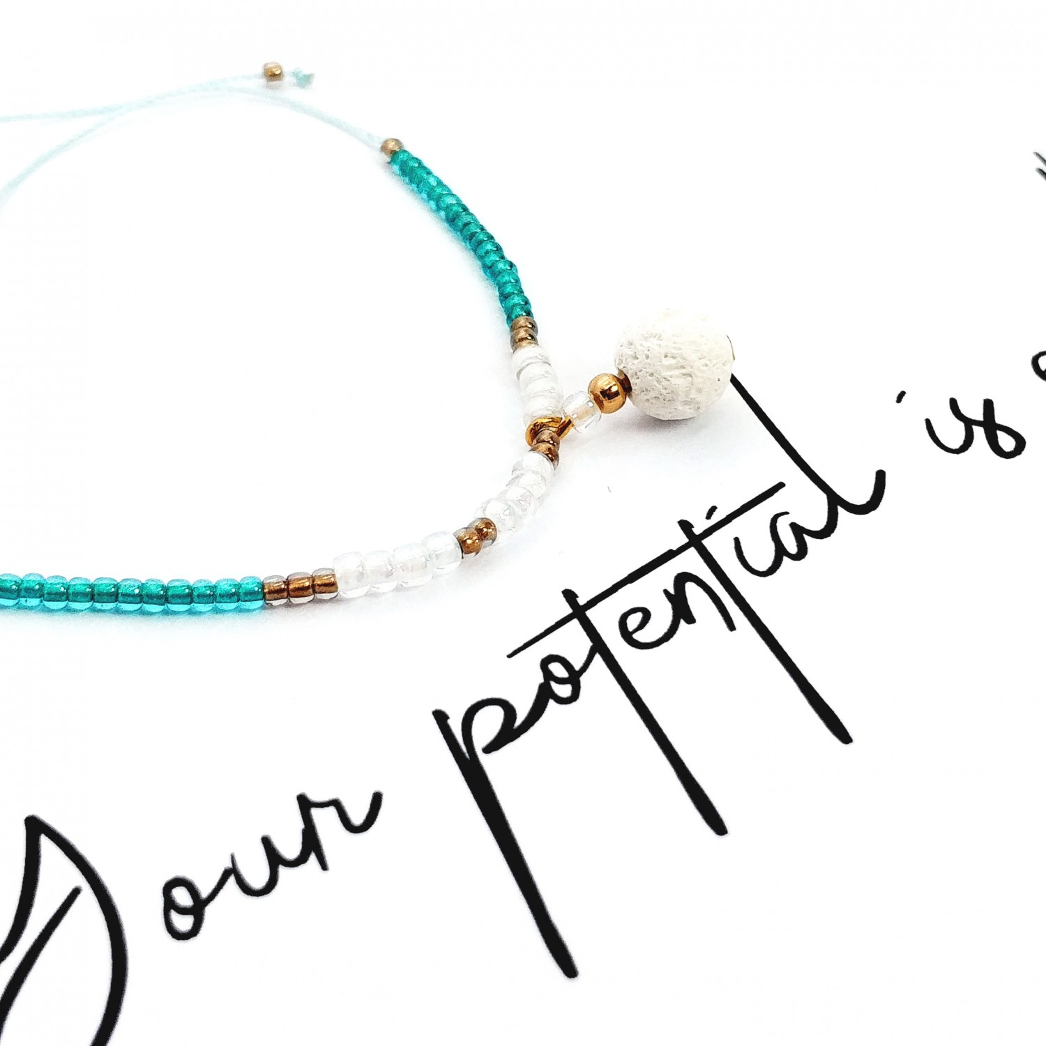 Bransoletka handmade do aromaterapii 4morelove Your Potential Is Endless.