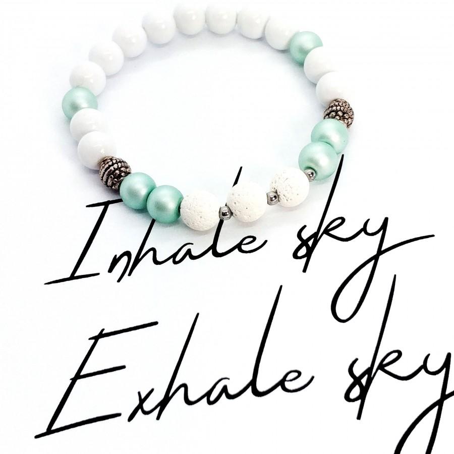 Bransoletka ręcznie robiona zapachowa Inhale Sky Exhale Sky