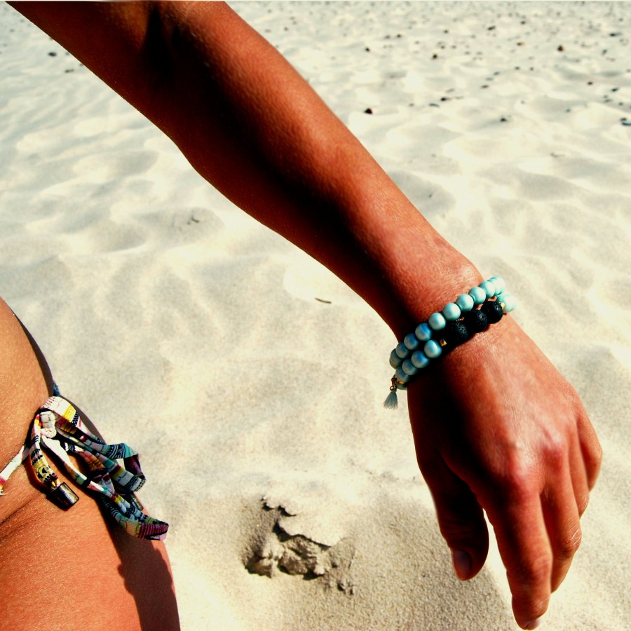 Bransoletka handmade do aromaterapii 4morelove -  Do What Make Your Soul Soul Shine