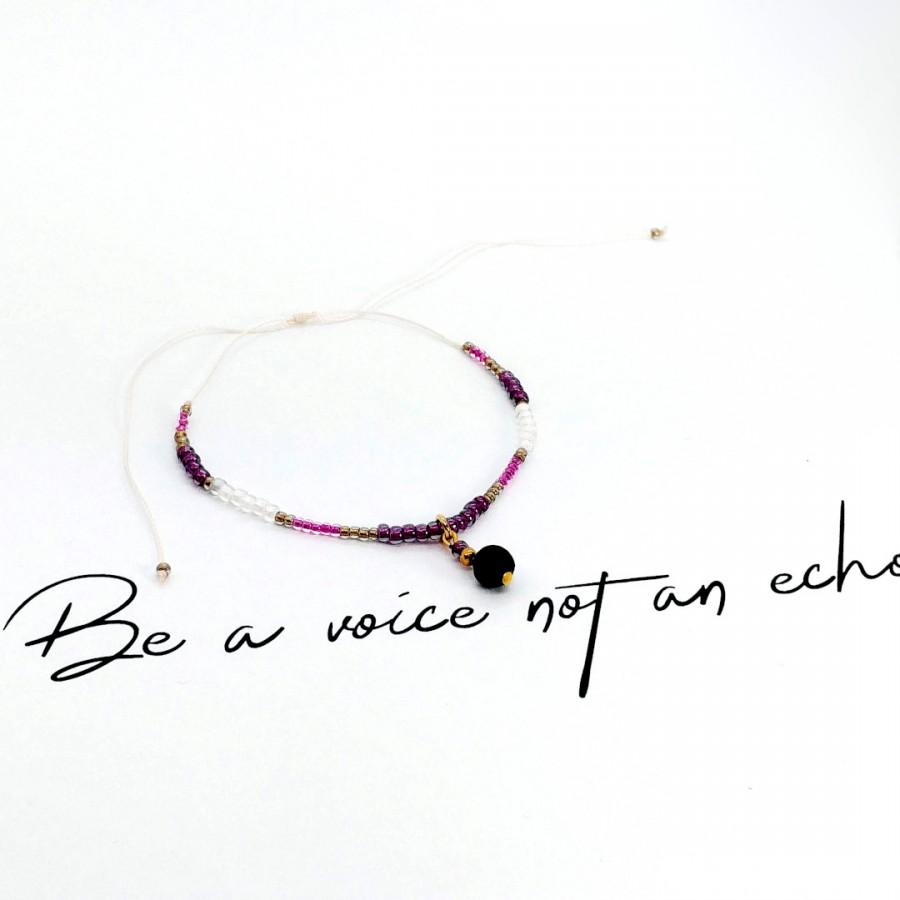 Bransoletka handmade zapachowa 4morelove Be A Voice Not An Echo
