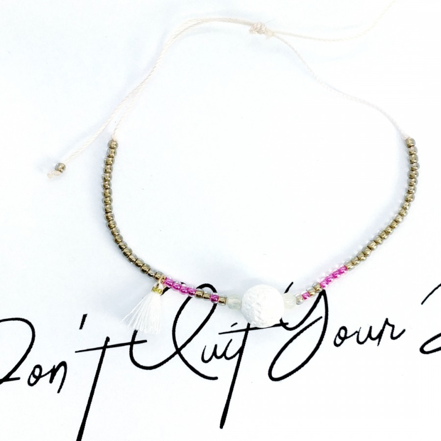 Bransoletka handmade zapachowa 4morelove - - Don't Quit Your Dreams